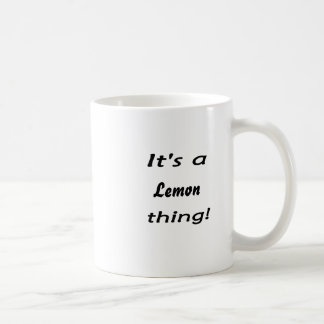 It's a lemon thing! basic white mug