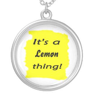 It's a lemon thing! round pendant necklace