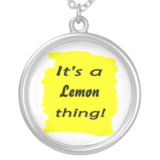It's a lemon thing! round pendant necklace
