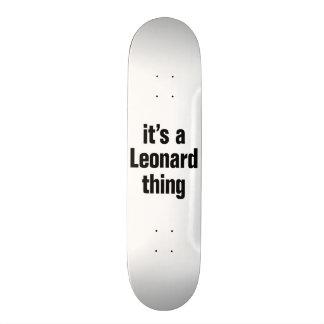 its a leonard thing skate board decks