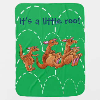 It's a Little Roo! Green background 05AC49 Baby Blanket