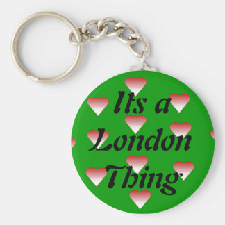 Its a London Thing Basic Round Button Key Ring