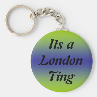 Its a London Ting Basic Round Button Key Ring