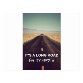 It's a long road but it's worth it postcards