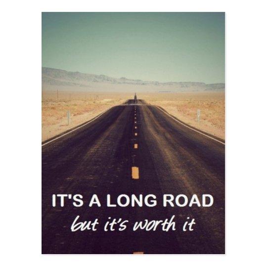 It's a long road but it's worth it
