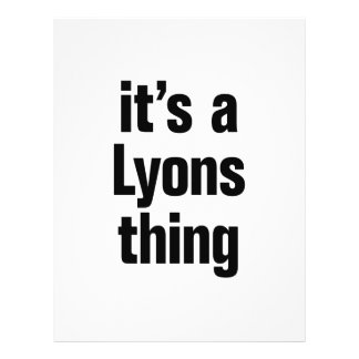 """its a lyons thing 8.5"""" x 11"""" flyer"""