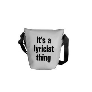 its a lyricist thing courier bags