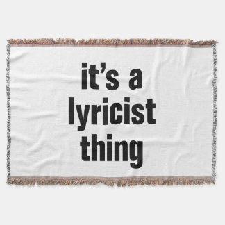 its a lyricist thing