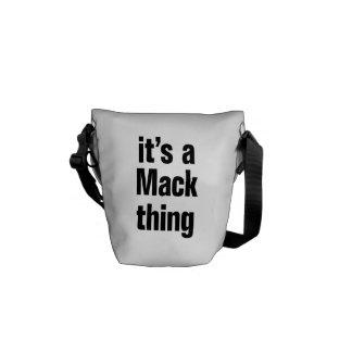 its a mack thing messenger bag