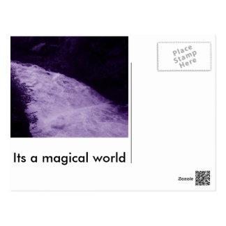 Its a magical world stationery postcard