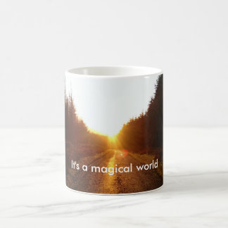 It's a magical world sunrise mug