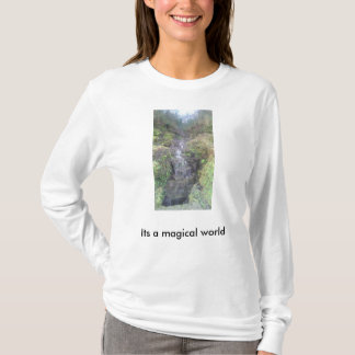 Its a magical world, waterfall t-shirt