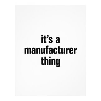 """its a manufacturer thing 8.5"""" x 11"""" flyer"""