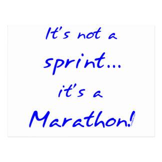 It's a Marathon - blue Postcard