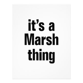 "its a marsh thing 8.5"" x 11"" flyer"