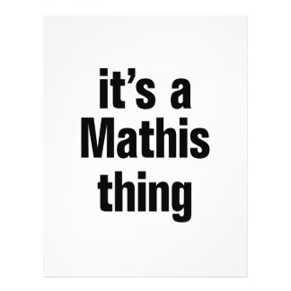 "its a mathis thing 8.5"" x 11"" flyer"