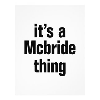 "its a mcbride thing 8.5"" x 11"" flyer"