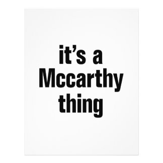 "its a mccarthy thing 8.5"" x 11"" flyer"