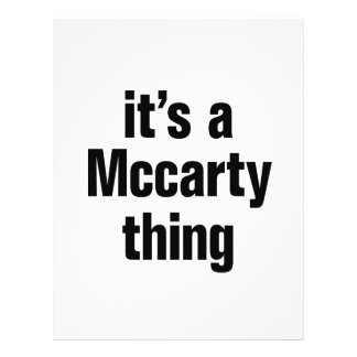 its a mccarty thing 21.5 cm x 28 cm flyer