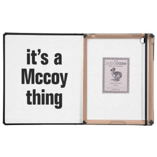 its a mccoy thing iPad case
