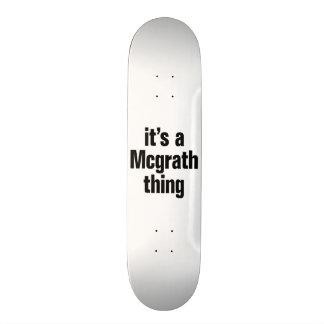 its a mcgrath thing 18.1 cm old school skateboard deck
