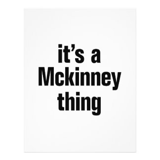 "its a mckinney thing 8.5"" x 11"" flyer"