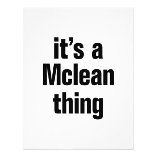 """its a mclean thing 8.5"""" x 11"""" flyer"""