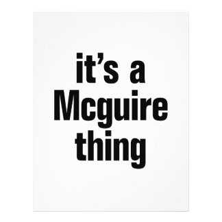 "its a mcquire thing 8.5"" x 11"" flyer"