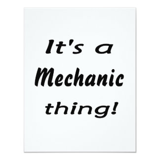 It's a mechanic thing! personalized announcement