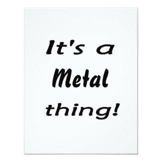 It's a metal thing! 11 cm x 14 cm invitation card
