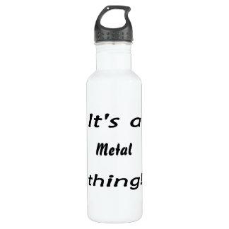 It's a metal thing! 24oz water bottle