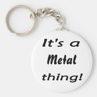 It's a metal thing! basic round button key ring