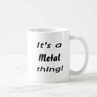 It's a metal thing! classic white coffee mug