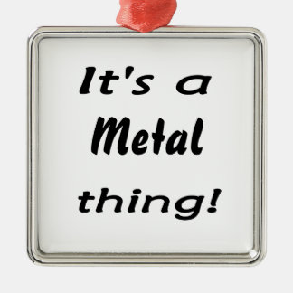 It's a metal thing! Silver-Colored square decoration