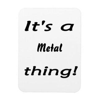 It's a metal thing! rectangular photo magnet