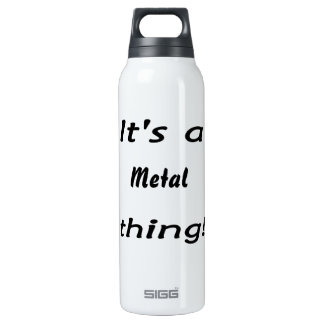 It's a metal thing! 16 oz insulated SIGG thermos water bottle