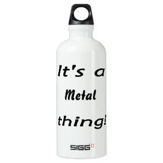 It's a metal thing! SIGG traveler 0.6L water bottle