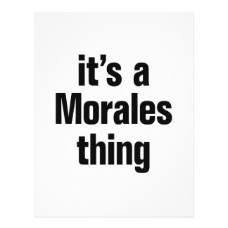 its a morales thing 21.5 cm x 28 cm flyer