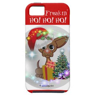 It's a Mousy Dog's Freakin' Christmas - HO!HO!HO! Tough iPhone 5 Case