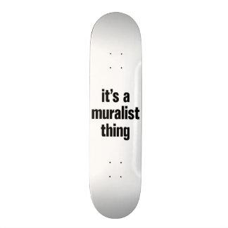 its a muralist thing custom skate board