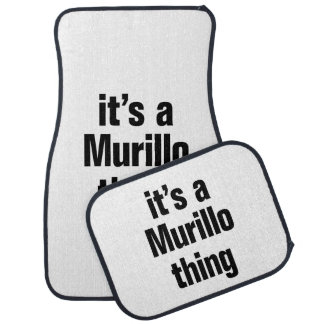 its a murillo thing floor mat