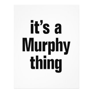 its a murphy thing 21.5 cm x 28 cm flyer