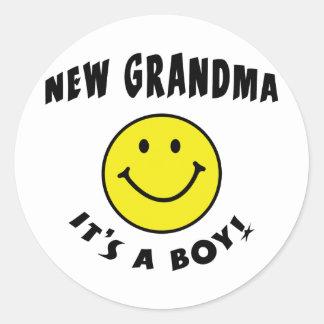 It's A New Baby Boy New Grandma Stickers