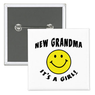 It's A New Baby Girl New Grandma Buttons