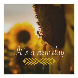 """It's a New Day 24"""" x 24"""" Poster"""