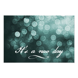 It's a New Day Bokeh Design Photographic Print