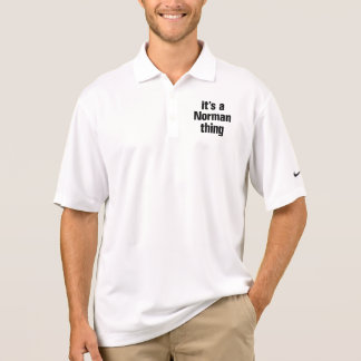 its a norman thing polo shirt