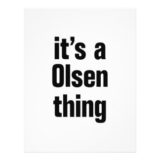 """its a olsen thing 8.5"""" x 11"""" flyer"""