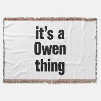 its a owen thing
