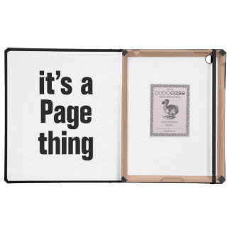 its a page thing cover for iPad